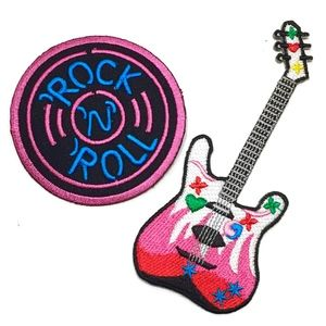 Iron On Patches, Guitar/ Rock N Roll Patch, DIY